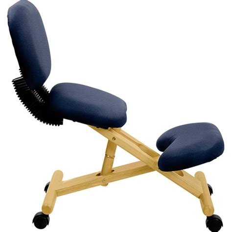 wooden ergonomic kneeling posture office chair with reclining back by flash furniture wl sb 310