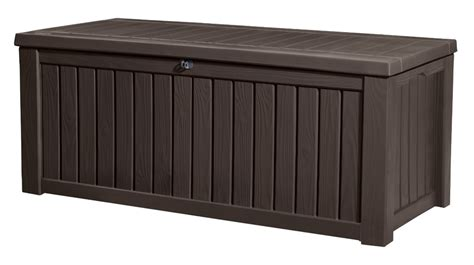 keter rockwood storage box brown wood effect 163 125