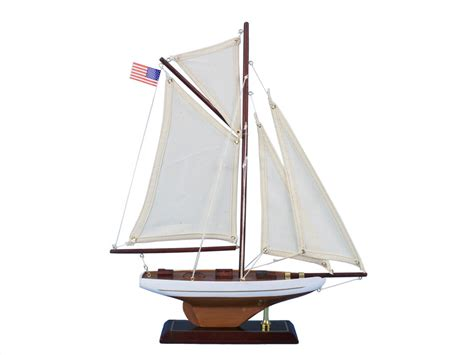 Toy Boat Decoration buy wooden columbia model sailboat decoration 16 inch