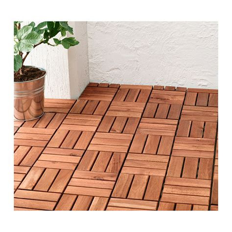 runnen floor decking outdoor brown stained ikea