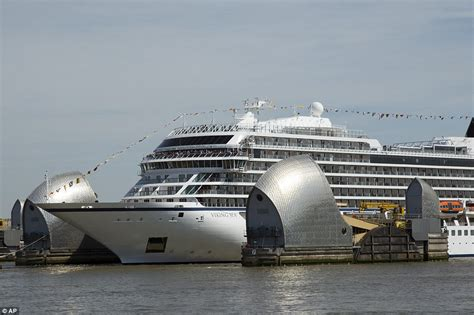 Boat Cruise In East London by Viking Seap Sails Up River Thames On Her Way To A Naming