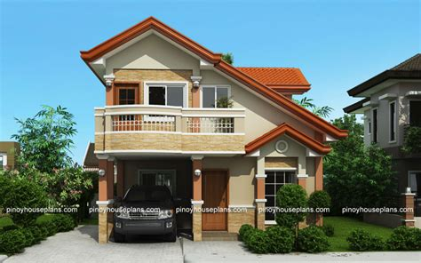 Home Design 02 : Php-2015021, Two Storey House Plan With Balcony
