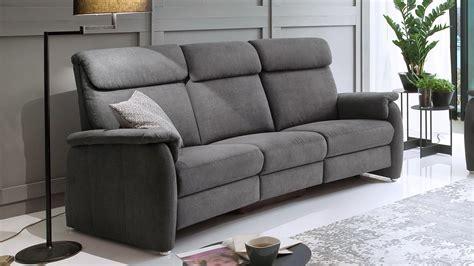 Sofa 3600 3sitzer Stoff Grau Mit Federkern Und