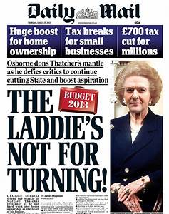 BUDGET 2013: Osborne's delight at Thatcher makeover ...