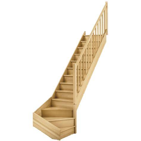 escalier quart tournant bas droit soft classic structure bois marche bois leroy merlin