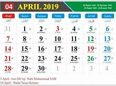 Kalender 2019 indonesia 2018 Calendar printable for Free