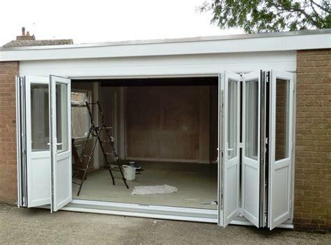 White Bi Fold Garage Doors  Home Interiors