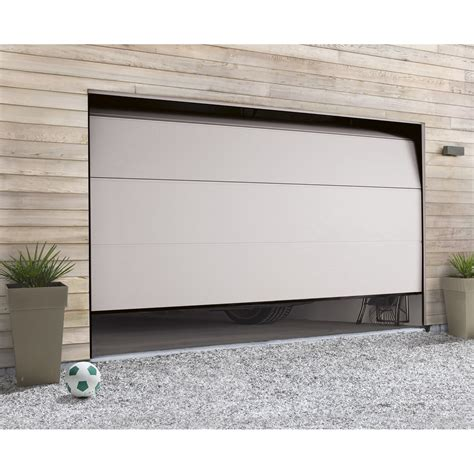 porte de garage sectionnelle motoris 233 e hormann h 200 x l 300 cm leroy merlin