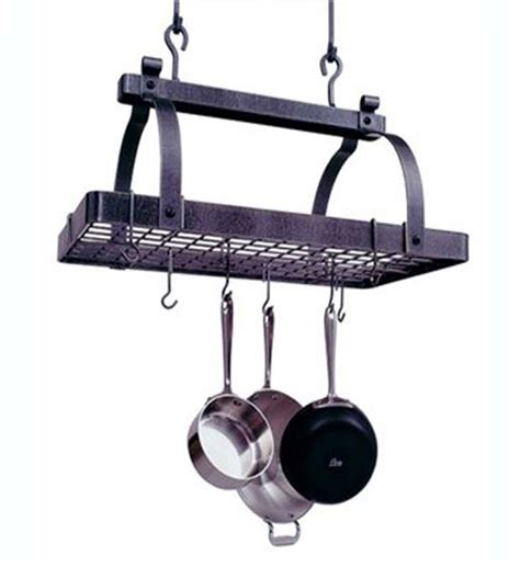 Classic Rectangle Hanging Pot Rack In Hanging Pot Racks