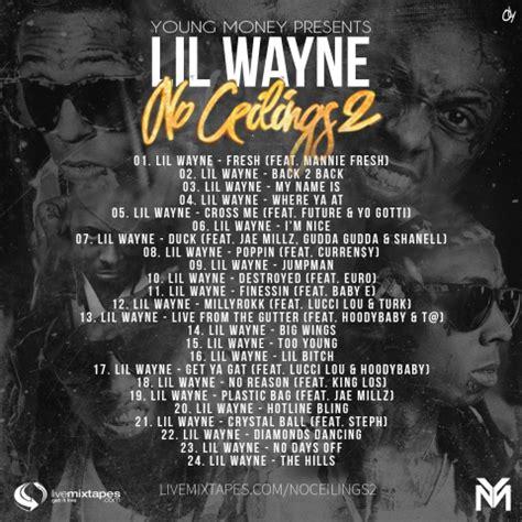lil wayne no ceilings 2 tracklist revealed