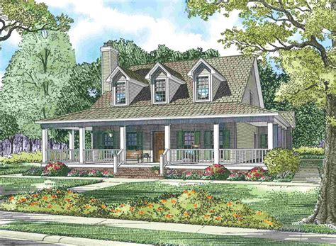 Home Design With Wrap Around Porch : Cape Cod House With Wrap Around Porch