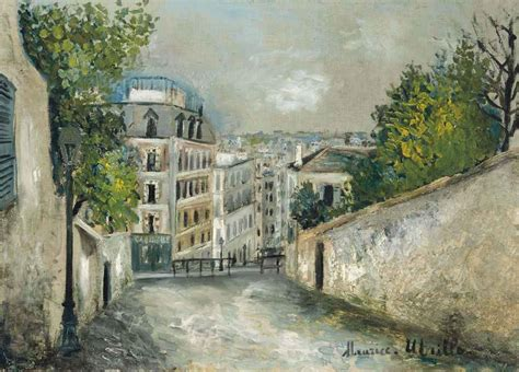 maurice utrillo 1883 1955 rue du mont cenis 224 montmartre christie s