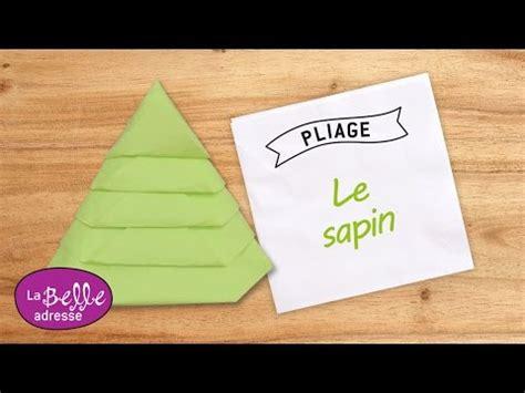 pliage de serviette en papier le sapin labelleadresse