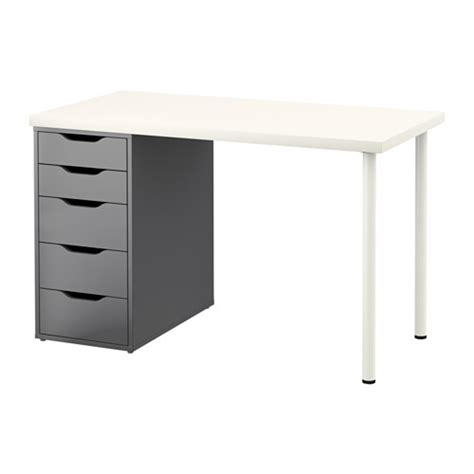 linnmon alex table white gray ikea