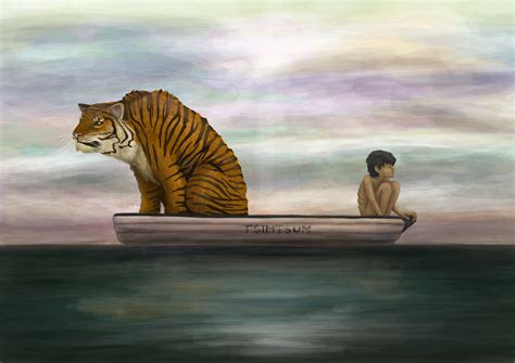 Movie Boy In Boat With Tiger by Life Of Pi Wallpapers Pictures Images