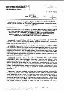 Philippines Report 16 senators sign resolution calling on ...