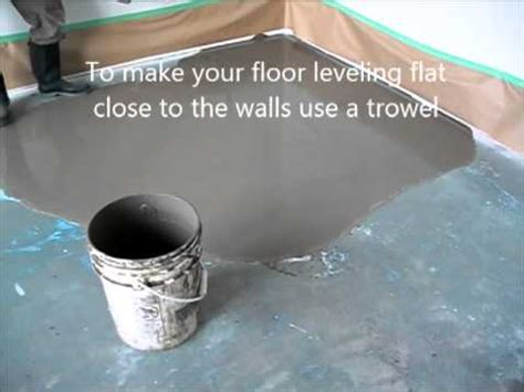 self leveling floor compound how to prepare and put