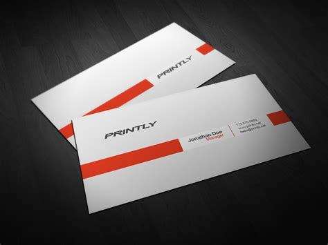 Free Printly Psd Business Card Template