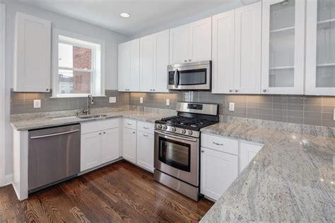 white kitchen granite countertop and gray backsplash ideas for small u shaped kitchen nytexas