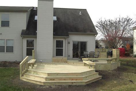 deck builders columbus ohio treated wood decks timbertech decks
