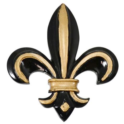 Painted Black & Gold Fleur De Lis Magnet
