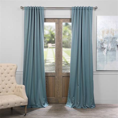 exclusive fabrics furnishings dragonfly teal blackout curtain 50 in w x 84 in l pair