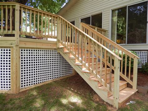 archadeck custom deck stairs railing and skirting traditional deck other by