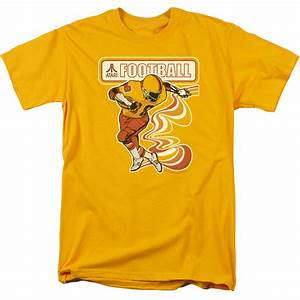 Atari Shirt Football Player Gold T-Shirt - Atari Football ...