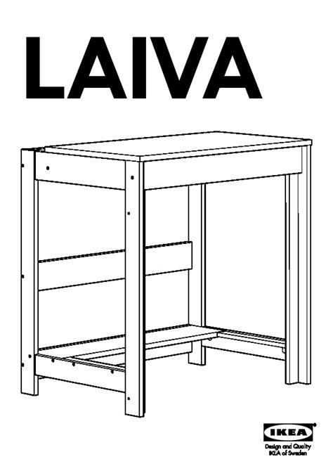 Ikea Laiva Desk Dimensions by Laiva Bureau Brun Noir Ikea Ikeapedia