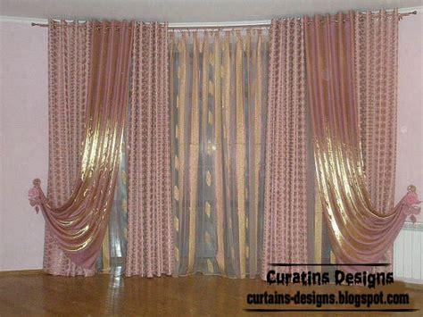 stylish curtain design shiny curtain fabric ideas for