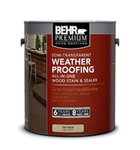 solid color weatherproofing all in one wood stain behr