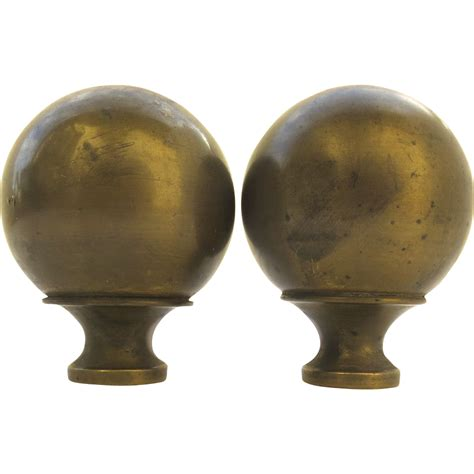 pair of vintage brass bed finials from blacktulip on
