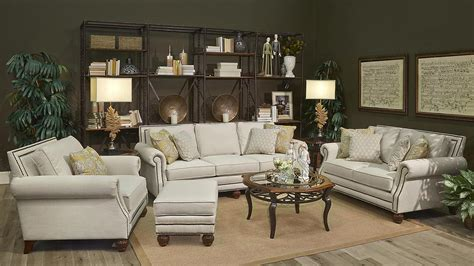 theres nothing stiff or uncomfortable about this traditional living room set my bethany loveseat