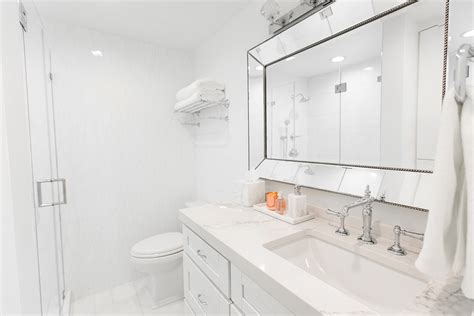 White Marble Bathroom Travertine Bathroom Sinks 24 Vanity Cabinet Hib Mirror Trough Sink Double Faucet Corner Unit Modern Small Spaces Kohler Mirrors Top Cabinets