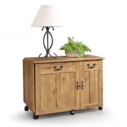 sauder sewing machine craft table drop leaf shelves