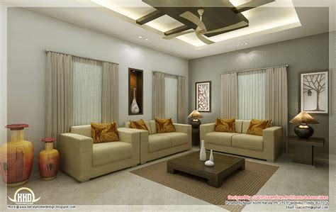 interior living room awesome 3d interior renderings kerala house design idea