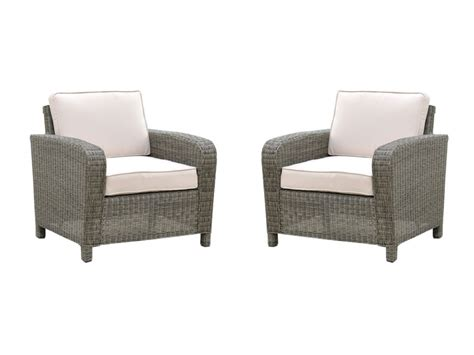 lot de 2 fauteuils de jardin en r 233 sine tress 233 e bragansa