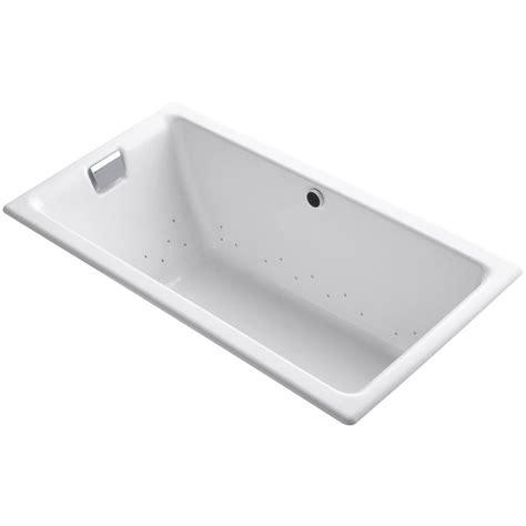45 ft drop in bathtub kohler tea for two 5 5 ft cast iron rectangular drop in