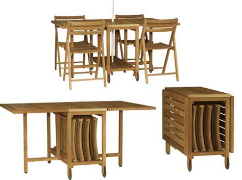 gain de place les meubles de jardin pliables d 233 coration