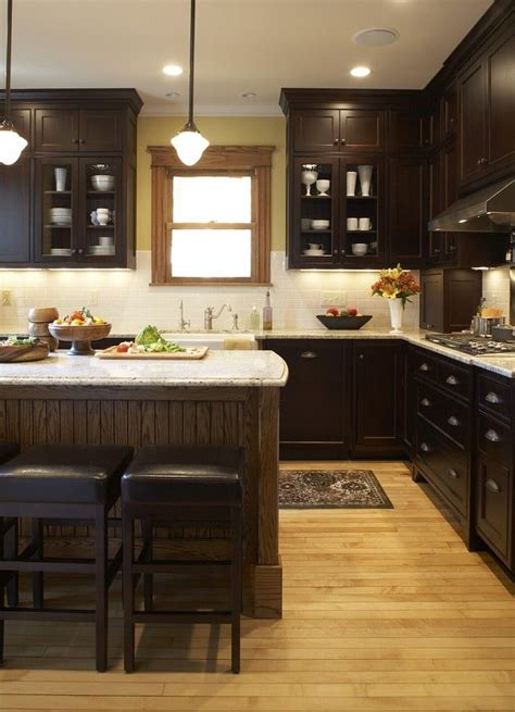 kitchen cabinets warm wood floor light counters kitchen ideas cabinet