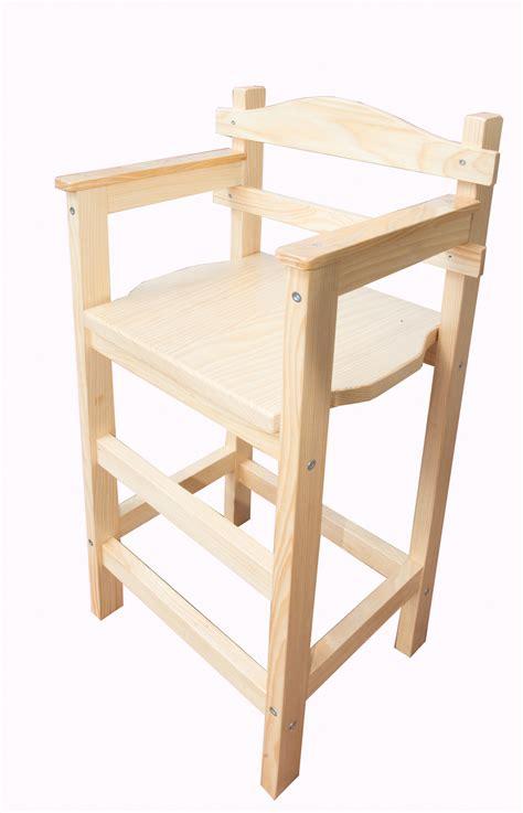 chaise haute enfant sagard en bois vernie meubles et rangements par eric delaite