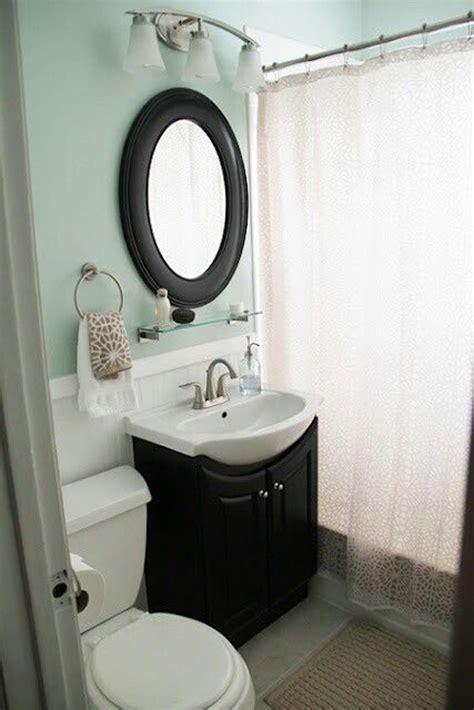 cozy small bathroom with soft color