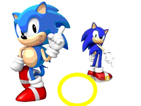 sonic classic sonic and modern sonic on scratch