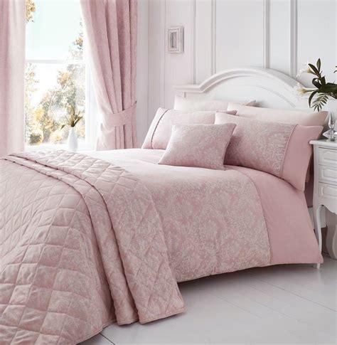 Laurent Pink Woven Damask Quiltduvet Cover Sets,bedding