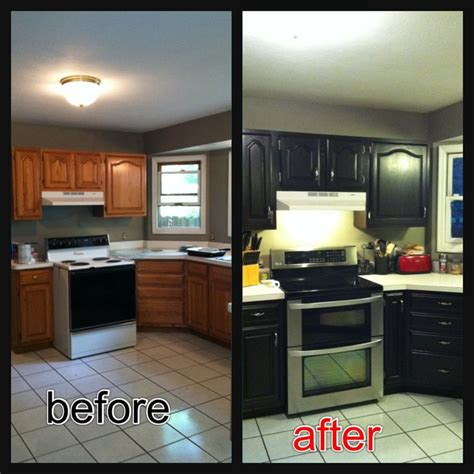 re stained cabinets using java gel stain easy to use