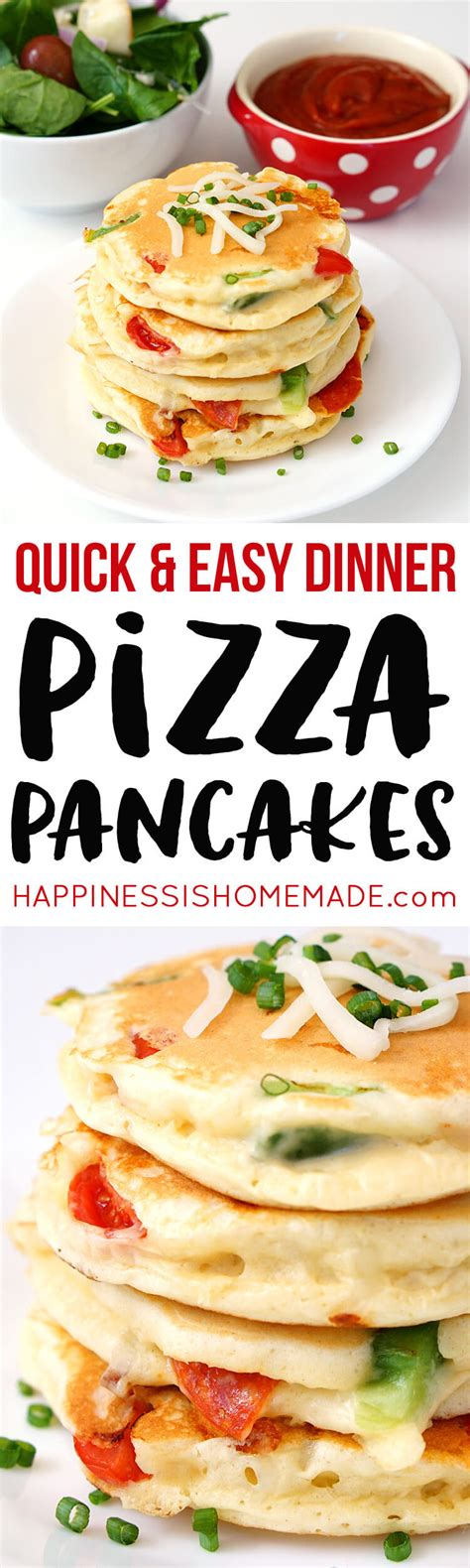 Pizza Pancakes  Quick & Easy Dinner Idea  Happiness Is Homemade