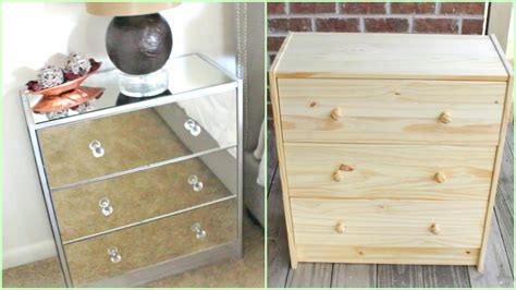 Mirrored Nightstands (ikea Hack!!!) Jigsaw Puzzle Tray With Drawers Bottom Drawer Freezer Refrigerator Makeup Trolley Sharp Insight Microwave Accuride Slide Release Snow White And The Seven Ikea Pulls Multi Wooden Cabinet