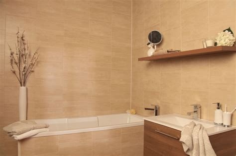 swish marbrex sandstone tile effect bathroom cladding wall shower bathroom tile board paneling