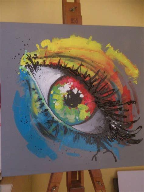 peinture acrylique quot l oeil quot 1 id 233 e peinture