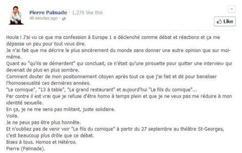 "Pierre Palmade Explique Son ""malaise D'être Homo"" Sur Facebook"